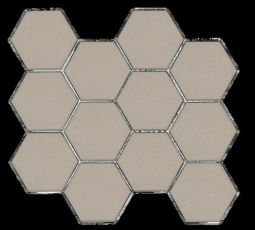 "Swiss 3"" Hexagon Taupe Glass"