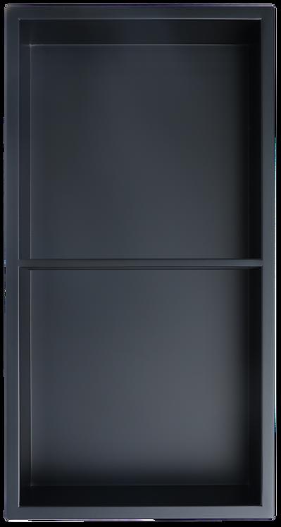 "12""x24"" Matte Black with Shelf (50/50)"