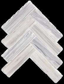 """Herringbone 2""""x8"""" Luna Grey Marble Mosaic"""