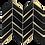 Thumbnail: Envision Chevron Black Gold Glass Mosaic