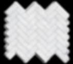 """1""""x3"""" Carrara Marble Herringbone Polished Item# 212811"""