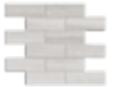 "Escarpment Marble Mosaic 2""x6"" Brick Polished Item#512421"
