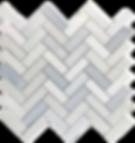 "Twilight Marble Mosaic - 1""x3"" Herringbone Polished Item#921691"
