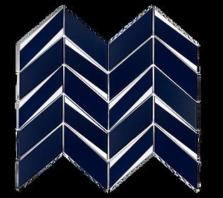 Envision Chevron Sapphire Silver Glass Mosaic