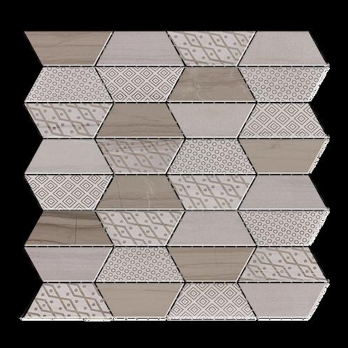 Impression Athens Gray Mulit-Finish Marble Mosaic