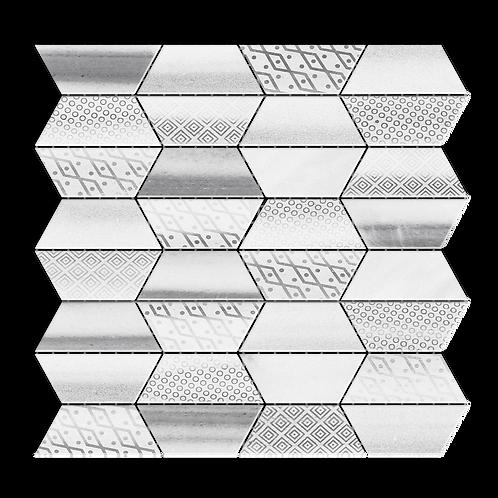 Impression Equator Mulit-Finish Marble Mosaic