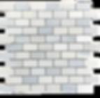 """Twilight Marble Mosaic - 1""""x2"""" Brick Polished Item#921491"""
