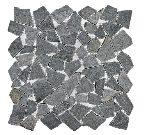 Basalt Pebbles Honed+Tumbled Marble Mosaic