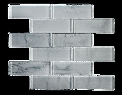 "Uno 2""x6"" Mont Blanc Glass Mosaic"