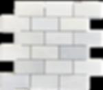 """Twilight Marble Mosaic - 2""""x4"""" Brick Polished Item#921191"""