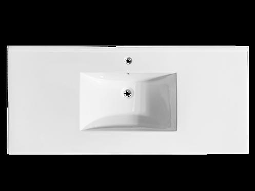 """49"""" Ceramic Top With Integral Bowl (22"""" Depth)"""