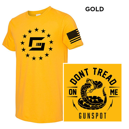 """Gold """"Don't Tread On Me"""""""