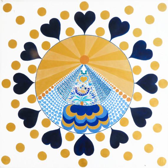 "Cosmic Fusion ""Holy Mary"" blue"