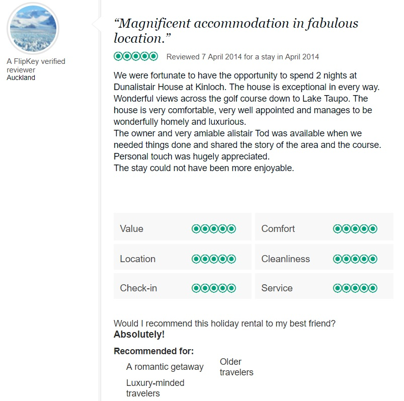 Trip Advisor Review 1