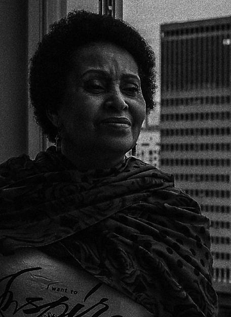 Foto em preto e branco de Carmen Silva