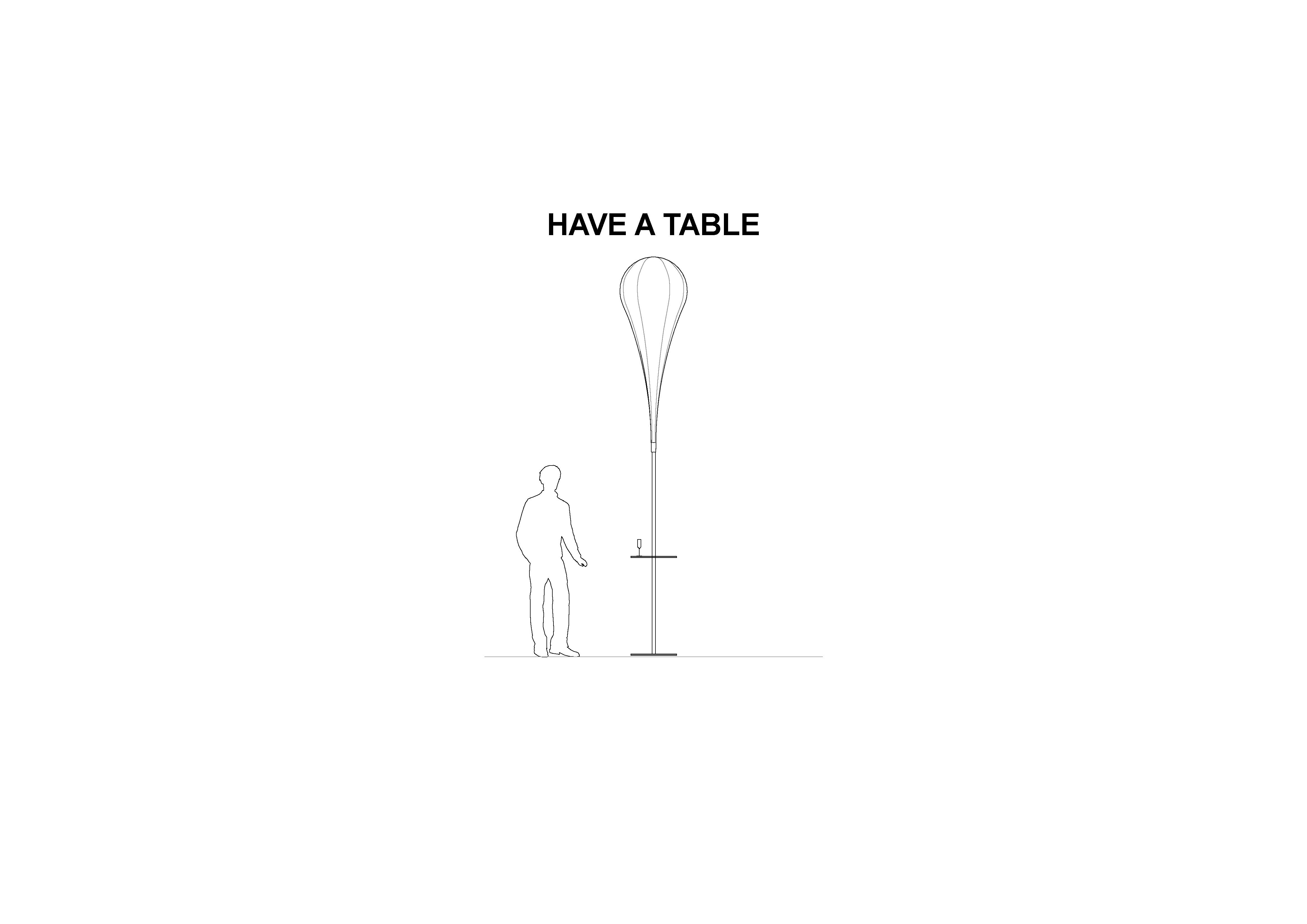 Tisch für Beachflag