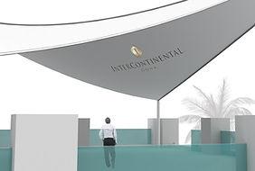 Großsegel bedruckt mit Logo