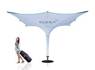 Sonnenschirm für Werbung und Promotion Transport in kleiner Rolltasche