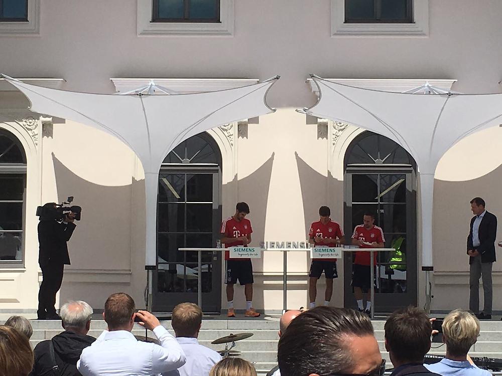 FC Bayern München Event mit IPOMEA Beschattung