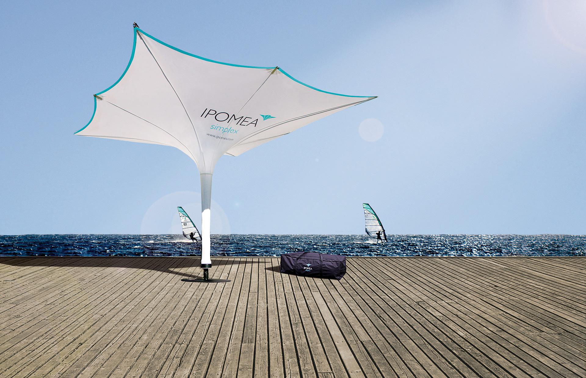 Sonnenschirm Werbung für Transport