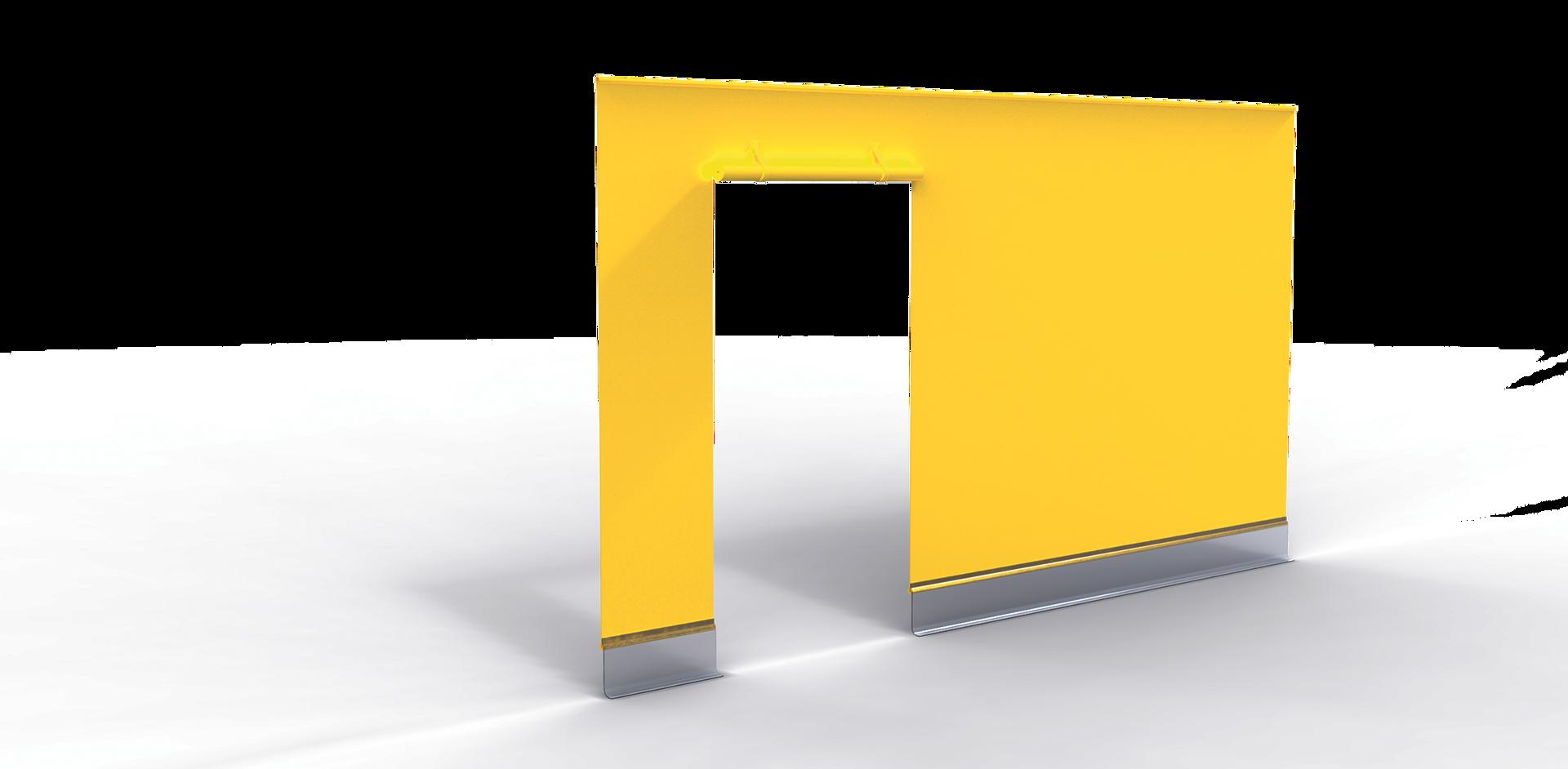 Seitenbehang mit Tür