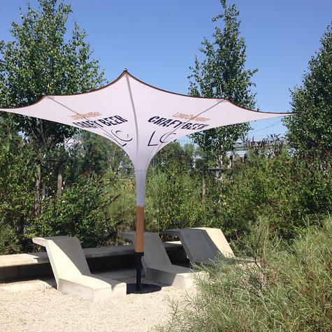 Bedruckter Werbe-Sonnenschirm für Promo