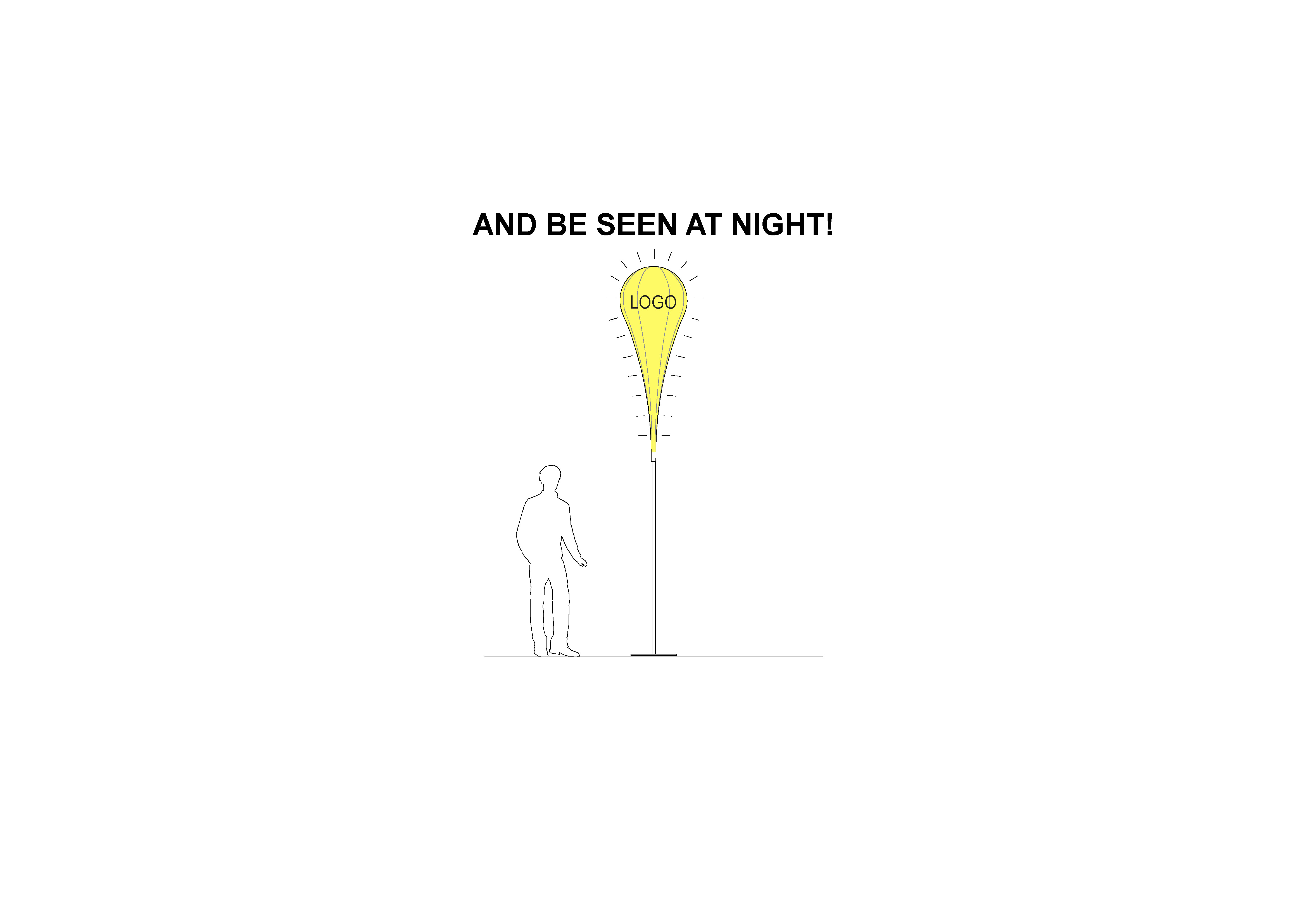 Leuchtwerbung, aufblasbar