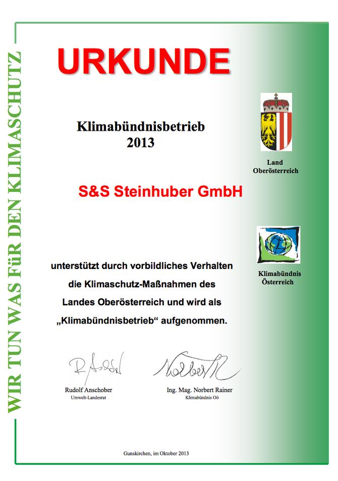 pro Umwelt - Klimabündnispartner