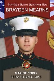 Military Banner: Morrilton Honors Hometown Hero Brayden Mearns Marine Corps Serving Since 2018