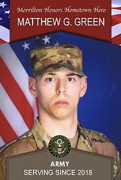 Military Banner: Morrilton Honors Hometown Hero Matthew G. Green Army Serving Since 2018