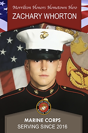 Military Banner: Morrilton Honors Hometown Hero Zachary Whorton Marine Corps Serving Since 2016