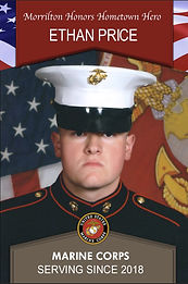 Military Banner: Morrilton Honors Hometown Hero Ethan Price Marine Corps Serving Since 2018