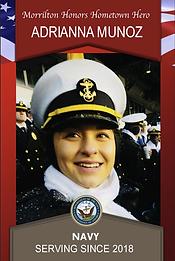 Military Banner: Morrilton Honors Hometown Hero Adrianna Munoz Navy Serving Since 2018