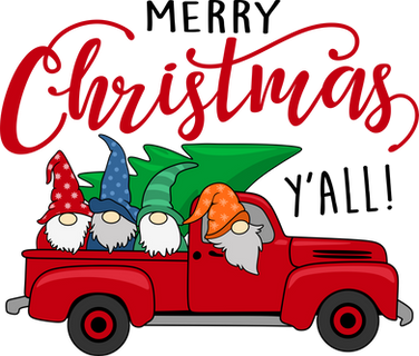 Gnome Christmas Red Truck.png