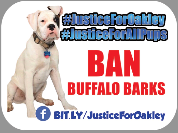 Justice for Oakley Sticker FB Link