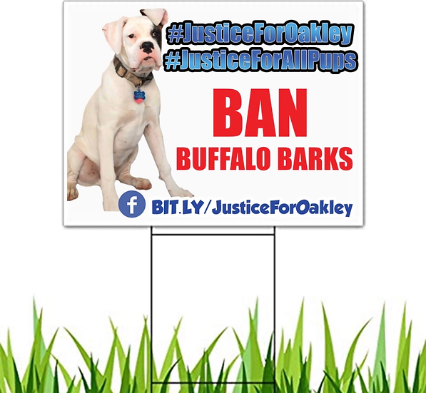 Justice for Oakley Sign