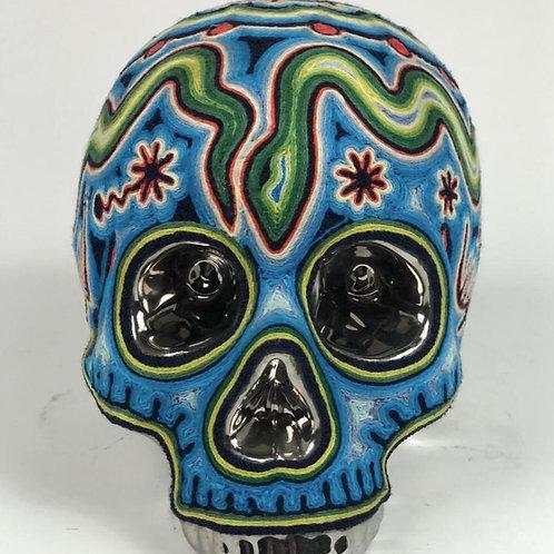 Green/Blue Chromed Skull