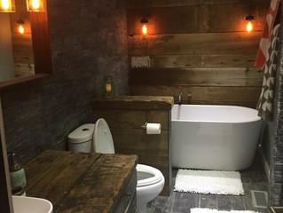 A rusticbathroom remodel
