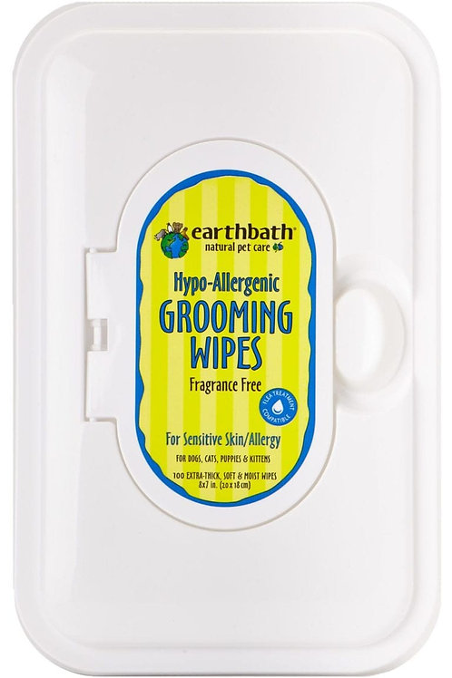 Hypo-Allergenic Grooming Wipes 100 Count