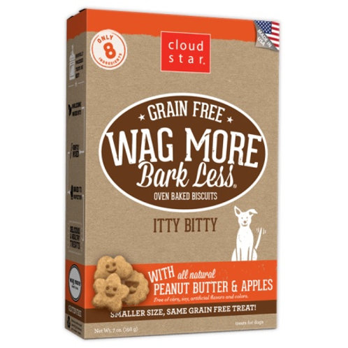 Wag More Bark Less Itty Bitty Biscuits : Peanut Butter and Apples