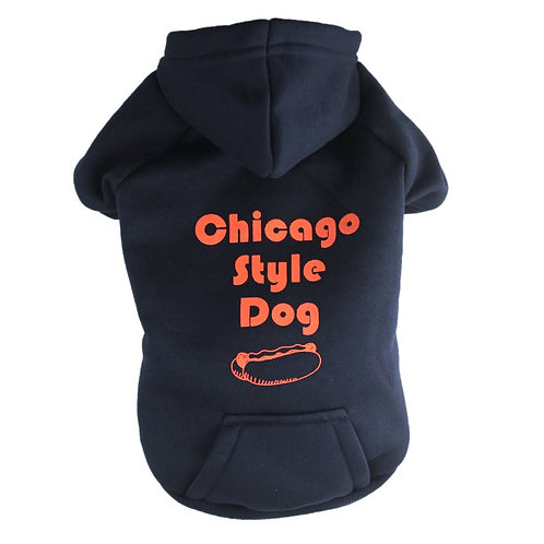 Chicago Style Dog Hoodie