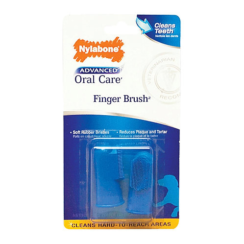 Nylabone Advanced Oral Care Finger Brush 2 Pack