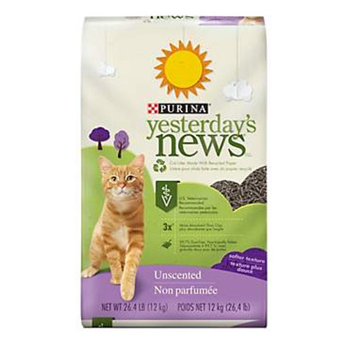 Purina Yesterday's News Cat Litter Soft Texture Unscented #13.2