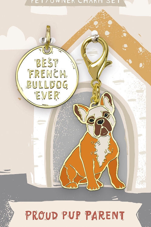 Best French Bulldog Ever Charm Set