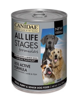 CANIDAE® All Life Stages Platinum Less Active Dog Wet Food Chicken, Lamb & Fish