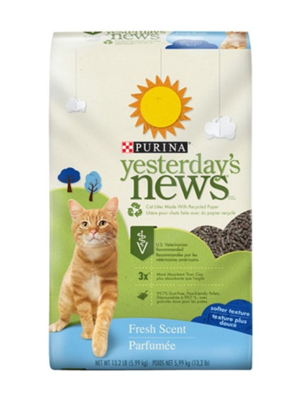 Purina Yesterday's News® Softer Texture Fresh Scent Cat Litter #13.2