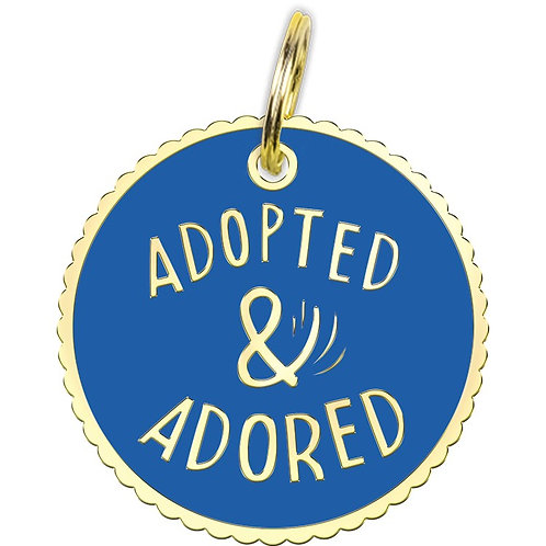 Collar Charm - Adopted & Adored