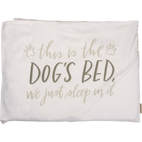 Single Pillowcase - This is the Dogs Bed