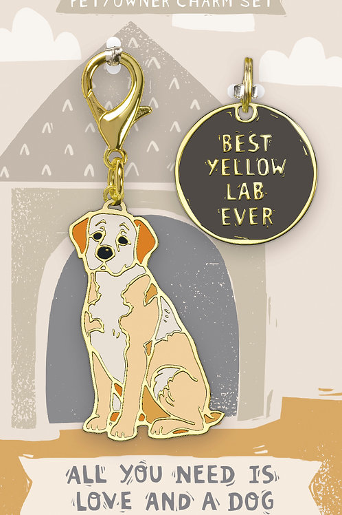 Best Yellow Lab Ever Charm Set
