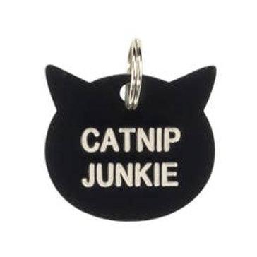 Catnip Junkie Cat Collar Charm